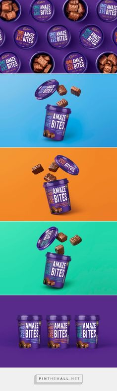 Cadbury Amaze Bites Designed by Robot Food #packaging
