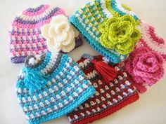 Fruit Loop Beanie Hat Crochet Pattern