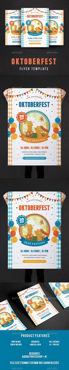 Oktoberfest Flyer Template PSD, AI