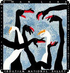 Labuđe jezero (Swan Lake) Poster by Boris Bučan Hand Kunst, Ballet Posters, Kunst Poster, Paris Art, Design Graphique, Hand Art, Swan Lake, Cool Posters, Music Posters