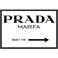 "Bedroom Art Prada Marfa, Giclee on Canvas (24"" x 36"") ($80) ❤ liked on Polyvore featuring home, home decor, wall art, decorations, filler, text, art, quotes, phrase and saying"