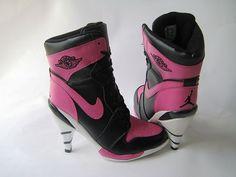 Air Jordan 1 High Heels Black Pink