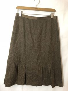 83531be693 DKNY WOOL SKIRT SIZE 4 Brown Pleated