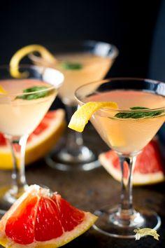 Grapefruit Basil Martini-5