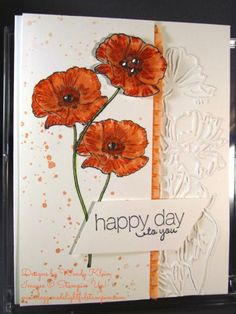 A Poppy By Any Other Name . . .  See more on this card at http://www.doggonedelightfulstampin.com/busy_stampin/2014/04/a-poppy-by-any-other-name-.html