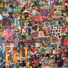 "Tamara Pittier ""Exit"" 80.00 cm x 80.00 cm (31.50"" x 31.50"") COLLAGES SUR TOILE CHF 350.00  tamart16 Collages, Tamara, Chf, Painting, Toile, Painting Art, Paintings, Painted Canvas, Collage"