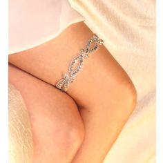 Wedding garter with BLING. #wedding #mybigday