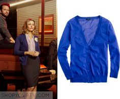 Riverdale: Season 1 Promotional Photos Alice's Blue Cardigan | Shop Your TV Alice Cooper (Madchen Amick) wears this blue v neck button front cardigan in the promotional photos for season 1 of Riverdale.  It is the J Crew Featherweight cotton V-neck cardigan.