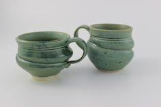 pottery tea cups by Noël Keag Tea Cups, Pottery, Mugs, Stone, Tableware, Noel, Ceramica, Rock, Dinnerware
