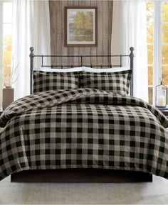 Woolrich Jla Home Flannel Full/Queen 3 Piece Check Print Cotton Duvet Cover Set Bedding King Duvet Cover Sets, Bed Duvet Covers, Bedroom Color Schemes, Bedroom Colors, Colour Schemes, Bedroom Ideas, Bedroom Inspiration, California King Duvet Cover, Flannel Duvet Cover