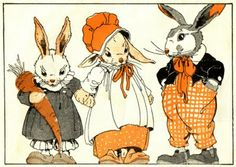 Maud and Miska Petersham are the husband and wife team that did the illustration, 1923 Some Bunny Loves You, Rabbit Art, Bunny Art, Funny Bunnies, Vintage Easter, Children's Book Illustration, Beatrix Potter, Vintage Postcards, Vintage Children