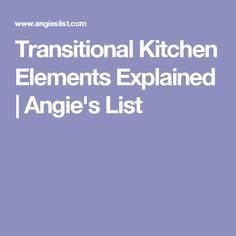 Transitional kitchens are more flexible than traditional and contemporary kitchens. Learn why this style is tops and how to achieve it in a kitchen remodel. Kitchen Redo, Kitchen Remodel, Kitchen Ideas, Kitchen Organization, Organization Ideas, Organizing, Angie's List, Contemporary Kitchens, Transitional Kitchen