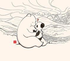 Panda and Polar Bear – A Fuzzy Little Comic