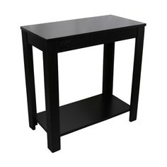 24 Inch Black Chairside Table Sofa End Tables Chair Side