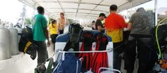 Speedboot in Sifah / Diving with Extra Divers Sifah (Oman 2015)