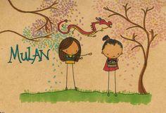 Bonecos Palito Disney - Mulan / http://pinkie-perfect.deviantart.com/
