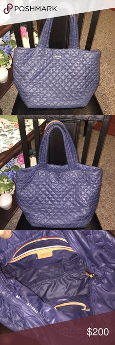 MZ Wallace Metro quilted tote AUTHENTIC MZ Wallace navy blue tote. Sold out  color. 0942573fc6a62