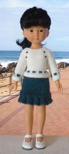 Pull manches raglan pour poupée Chérie: 1) http://marieetlaines.canalblog.com/archives/2013/10/20/27457173.html 2) http://p8.storage.canalblog.com/83/34/1066432/88225392.pdf