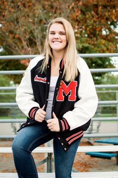 Monroe High School Senior Portrait Session Sports Baseball Lettermans Jacket Monroe WA Laura Davis Photography