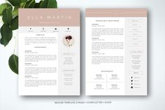Resume Template for MS Word - Resumes - 1