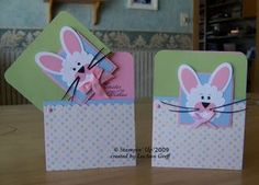 March 09 bunny club cards blue