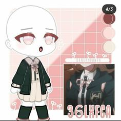 Anime Cat Boy, Club Hairstyles, Goth Boy, Animes Yandere, Club Design, Nanami, Character Outfits, Psychedelic Art, Club Outfits
