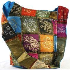 Boho Fabric Silk Bag Pashmina Scarf, Boho Clothing, Hippie Clothes, Hobo Handbags, Bags, Tunic, Long Skirts, Bohemian Tops, Silk Scarves, Shawls at Asrai Style found on Polyvore