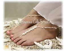 Petite pearl elegant hand crochet barefoot sandals in cream, accented with the most delicate little pearls. Each barefoot sandal is thoughtfully made just for you. Something sweet and delicate for you