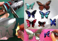 aluminum can butterflies