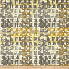 wavelle/Mill Creek Indoor/Outdoor Quibble Brushed Gold from @fabricdotcom s, is soil release, Sanforized and water repellent. Colors include grey, charcoal, taupe, ochre, gold, yellow and ivory.