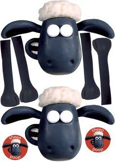 free printable - shaun the sheep party packs