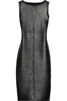 Gucci Lacquered python-effect stretch-knit dress | NET-A-PORTER