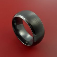 Black Zirconium Ring Traditional Style Band by StonebrookJewelry, $198.92