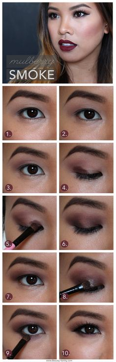 Beauty Vanity | Mulberry Smoke: Dark Lips and Berry Lids Makeup Tutorial for Asian Eyes                                                                                                                                                                                 More
