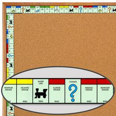 Monopoly™ Properties Border-For around white board
