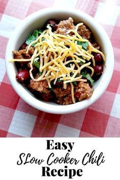 Hands down one of the best chilis I have ever made. Simple and easy slow cooker�