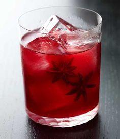 Morello Cherry Prosecco spritz with star anise