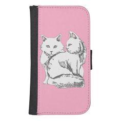 Maine Coons iPhone 5/Samsung Galaxy S4 Wallet Case; Abigail Davidson Art; ArtisanAbigail at Zazzle