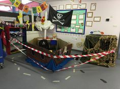 Eyfs pirate ship role play scene