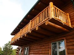This is a nice porch for the top floor