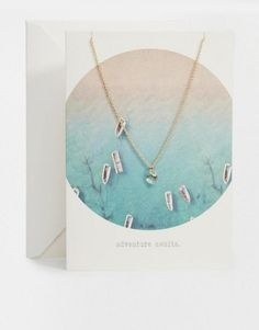 Orelia Adventure Awaits Summer Story Swarovski Giftcard Necklace