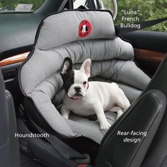 Crash-Tested Safety Seat - Dog Beds, Gates, Crates, Collars, Toys, Dog Clothing & Gifts from inthecompanyofdogs.com