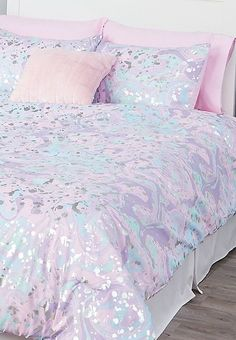 mermaid bedroom Every little girl probably dreams about having that whimsical bedroom she always imagined and the Unicorn Bedroom Decor, Whimsical Bedroom, Mermaid Bedroom, Mermaid Bedding, Bed For Girls Room, Big Girl Rooms, Little Girls Bedding Sets, Girls Comforter Sets, Teen Bedding Sets
