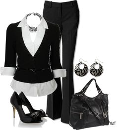 """""""hire me"""" by fluffof5 on Polyvore <3 this outfit!  shoes, shirt, sweater, belt, necklace = Sarah"""