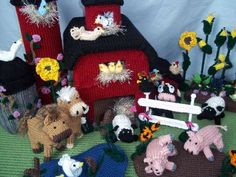 Mosbey's Dairy Farm - Easy Knitting Patterns (found on instructables.com)