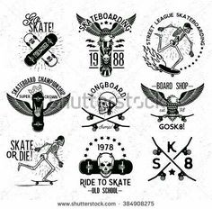 Find Set Skateboarding Labels Badges Skateboard Skeleton stock images in HD and millions of other royalty-free stock photos, illustrations and vectors in the Shutterstock collection. Skateboard Tattoo, Skateboard Art, Skateboard Design, Skater Tattoos, Neck Tattoo For Guys, Flash Design, Hang Ten, Tattoo Sketches, Tattoo Inspiration