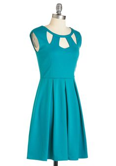 Etiquette Hardly Wait Dress. After tutoring students on polite terminology, table setting tips, and more, tonight youll don this teal dress to watch them put their knowledge to the test! #blue #modcloth