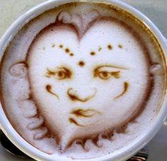 .·:*¨¨*:·. Coffee ♥ Art .·:*¨¨*:·. face latte