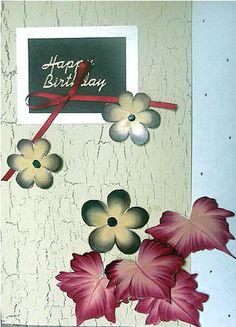 Homemade Greeting Cards | one stroke greeting card