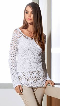Crochet tunic pattern exquisite design crochet by FavoritePATTERNs